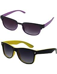 Rhodopsin Rectangular Sunglasses (Black, 2_Kids_Square_Way_Black_Yellow_33)