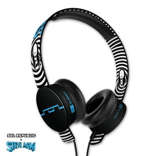 SOL REPUBLIC 1293-00 Steve Aoki Tracks HD On-Ear Headphones