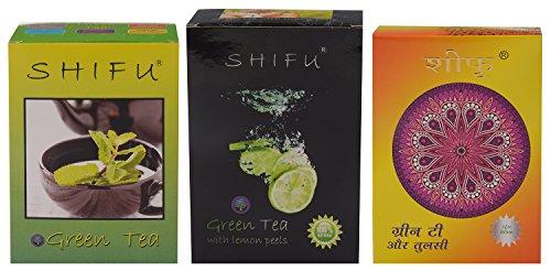 Shifu Green Tea, Green Tea With Lime Peels And Green Tea With Tulsi Leaves - 300 Gms