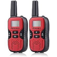 Amanico Kids Walkie Talkies, 22 Channel FRS/GMRS 2 Way Radio 2 Miles (up To 3. 7 Miles) UHF Handheld Walkie Talkies...