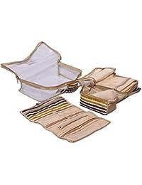 Kuber Industries Jewellery Kit, Bangle Kit, Payal Kit, Make Up Kit 4 Pcs Set In One Box (Beige)