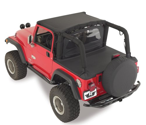 Rampage Jeep 761015 Denim Black Soft Top Tonneau Cover