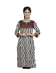SKYRAH Women's Cotton Printed Straight Kurta
