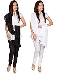 Womens Cottage Combo Pack Of 2 Pure Cotton Chudidar & Cotton Dupatta With Lace Set - B01G1GJFX4