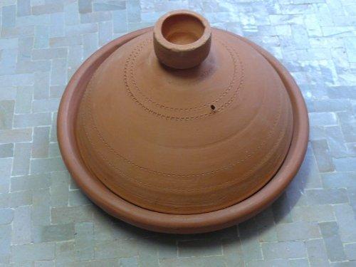 Marokkanische Tajine zum Kochen unglasiert Ø 35 cm