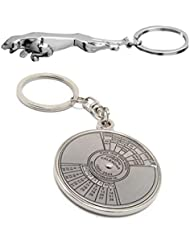 Cubee Set Of Jaguar & Compass Date Perpetual With Calendar Up-to 50 Years Key Chain