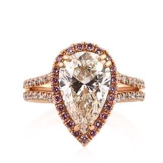 mark broumard pear halo engagement ring on Amazon