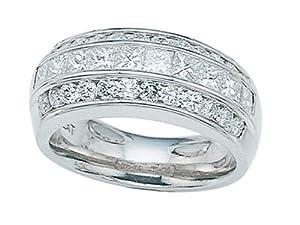 Karina B Princess Diamonds Band in Platinum 950 Size 4