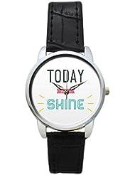 Bigowl Today You Will Shine Typography Analog Women's Wrist Watch 2003748603-RS3-S-BLK