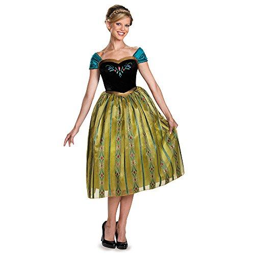 Halloween 2017 Disney Costumes Plus Size & Standard Women's Costume Characters - Women's Costume Characters Disguise Women's Anna Coronation Deluxe Adult Costume Size XS - XXL (4/6 - 18/20) Standard / Plus Size