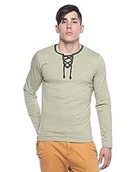 Rope Neck T-shirt - Full Sleeve - Kiwi Green