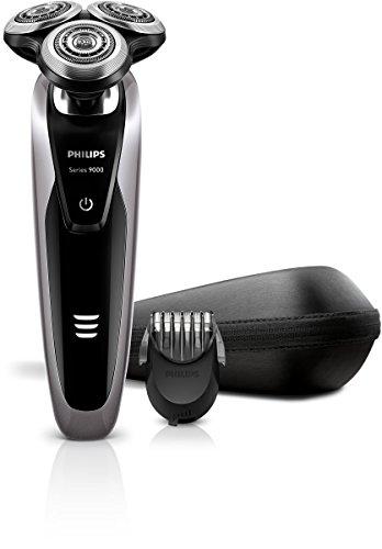 Philips S9111/41 - Afeitadora eléctrica, uso en seco y húmedo, con perfilador...