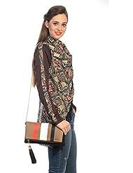 Mix N Match Multi Stylish Folder Clutch Fashion Bag With Multi Pocket - B01IBJWIFG