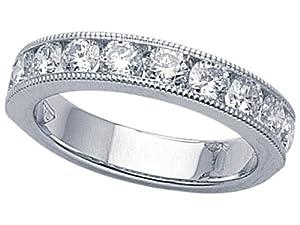 Karina B (tm) Round Diamonds Band in Platinum 950 Size 4.5