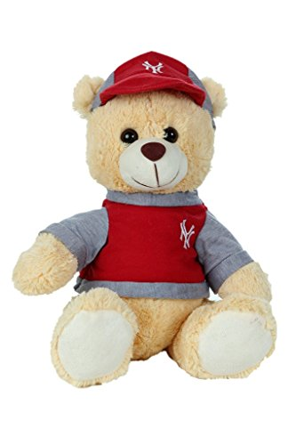 Absoluteplay Cute Teddy Bear With Cap Red Soft Toy 12 Inch