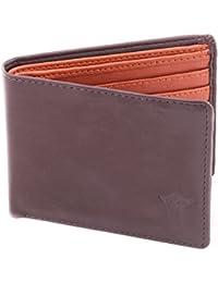 Creature Men's Leather Wallet||BROWN/TAN||G-001||