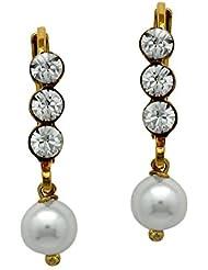 Mahi With Swarovski Elements Valentine White Pearl Earrings For Women ER1104099G