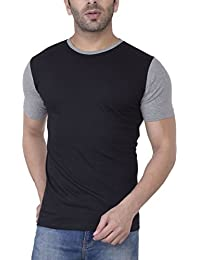 Upbeat Mens's Contrast Short Sleeve Round Neck Cotton Tshirt