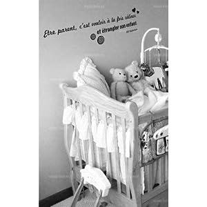 Sticker citation : Etre parent, c-#39;est vouloir à la fois câliner ...