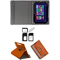 "Hello Zone Exclusive 360° Rotating 10"" Inch Flip Case Cover Book Cover For Asus Transformer Prime TF700T - Brown..."