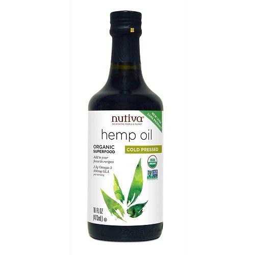 Nutiva Organic Hemp Oil, 16-Ounce Bottles (Pack