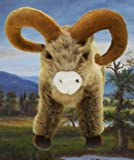 Big Horn Sheep Plush Animal 15 Inches - Stuffed Ram (Buster)