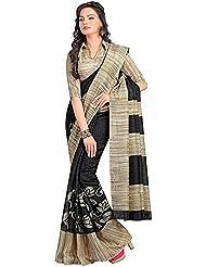 The Fashions Hub Women's Art Silk Saree With Blouse Piece (Multi-Coloured)