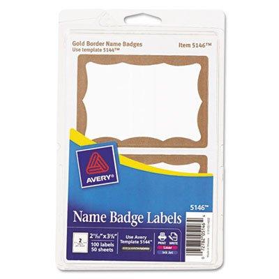 Avery Printable Self-Adhesive Name Badges, 2-11/32 X 3-3/8,