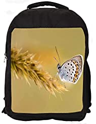 """Snoogg Butterfly In Grass Casual Laptop Backpak Fits All 15 - 15.6"""" Inch Laptops"""