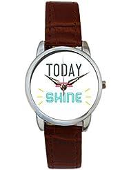 Bigowl Today You Will Shine Typography Analog Women's Wrist Watch 2003748603-RS3-S-BRW