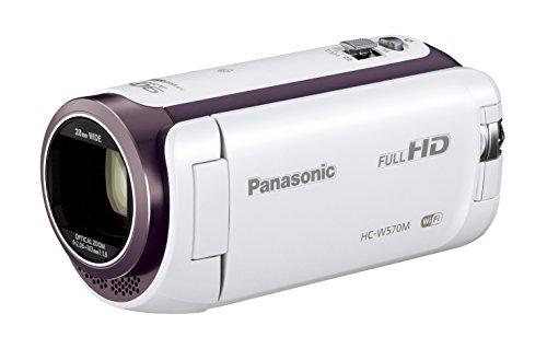 Panasonic HDビデオカメラ W570M ワイプ撮り 90倍ズーム ホワイト HC-W570M-W