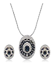 Eclat Rhodium Brass Pendant Set For Women New Fashion Jewelry (1112211RM)