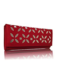 Sn Louis Canvas Red Women Wallet 591