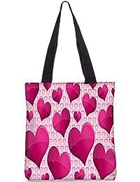 Snoogg Shining Heart Digitally Printed Utility Tote Bag Handbag Made Of Poly Canvas