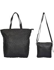 Ur Class Women's Shoulder Bag And Sling Bag (UC_06 + UC_17,Black)