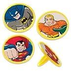 SuperFriends SuperHero Cupcake Rings