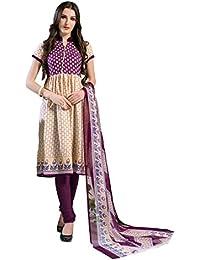SHS Women's Cotton Printed Unstitched Regular Wear Salwar Suit Dress Material(SHS-115)