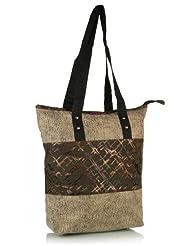 Home Heart Women's Eco Friendly Tote Bag (Brown/Beige)