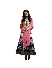 London Beauty Pink Designer Anarkali Suit - B01AZE52A8
