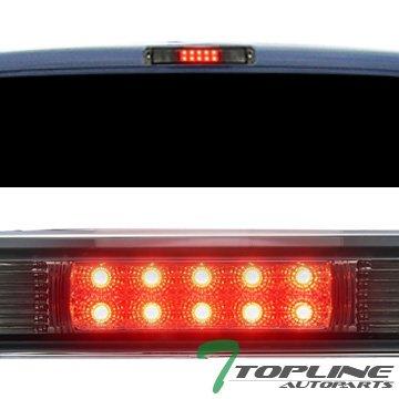 Topline Autopart Smoke Clear Lens Red LED Rear 3RD Third Brake Lamp Tail Light AW 88-00 Chevy GMC C/K Silverado Sierra 1500 2500 3500 C10 Pickup Truck