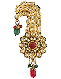 Dilan Jewels PURE Collection Gold Plated Indian Groom Wear Kundan Multicolour Kalgi For Men