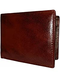 Magical Brown Textured Premium Mens Genuine Leather Wallet By GetSetStyle