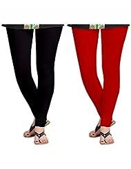 Style Acquainted People Women's Cotton Leggings (Pack Of 2) - B015J88SCO