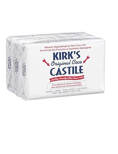 Kirk's Natural Castile Soap Original - 4 oz Each / Pack of 3