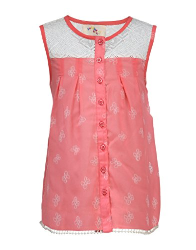 Budding Bees Peach Floral Fit & Flare Dress