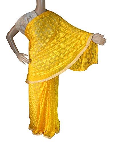 Beautiful RUDA Designer Phulkari Embroidered Saree-JS1114