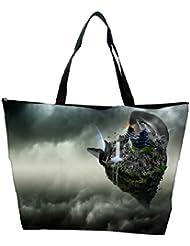 Snoogg Abstract Animated Earth Design Designer Waterproof Bag Made Of High Strength Nylon