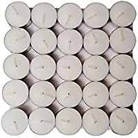 Devinez Smokeless Tealight Candles, White (Pack Of 50)