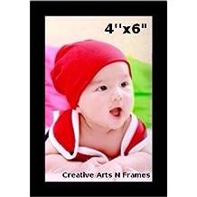Black Photo Frame Photo Size: 4x6inch Frame Size: 6x8inch