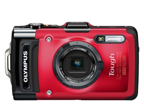 Olympus TG-2 Fotocamera Compatta Digitale, 12 Megapixel, Zoom 4X, LCD da 3 Pollici, OLED, Red